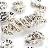 Grade A NBEADS 50 Pcs 6mm Crystal Disco Ball Beads Rhinestone Shamballa Beads Jewelry Making Charms