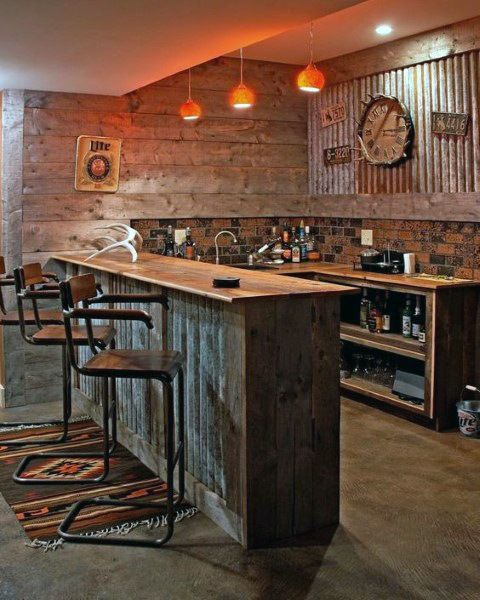 Top 50 Best Garage Bar Ideas Cool Cantina Workshop Designs Home Bar Designs Rustic Basement Bar Basement Bar Designs