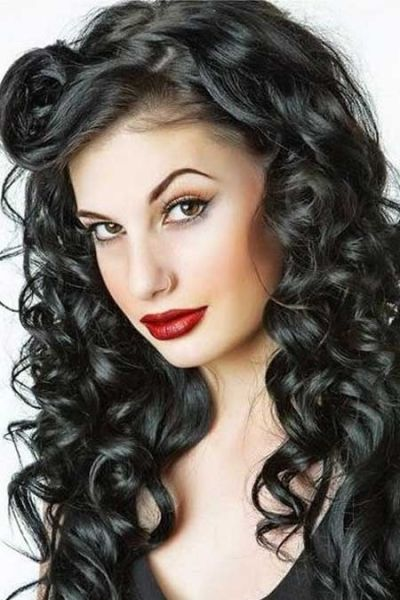 Pleasing Pin Up Feathered Hairstyles And Modern Pin Up On Pinterest Hairstyles For Men Maxibearus