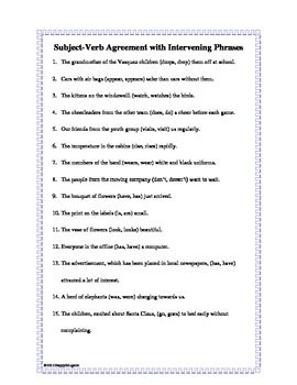 Verb Phrase Worksheets - Rringband