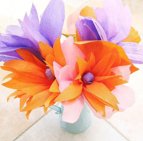 Crepe Paper Flower Bouquet by Creative Jewish Mom