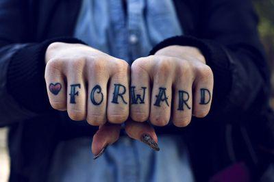 Forward Knuckle Tattoo
