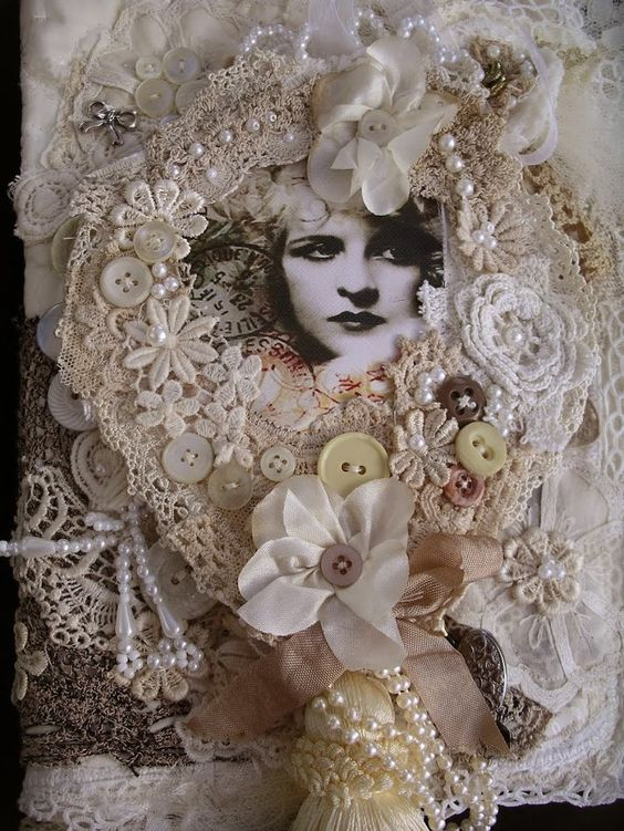 Lace book cover: