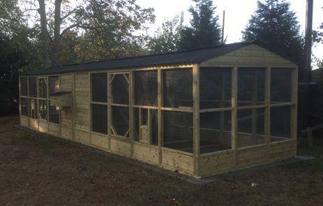 custom built walk in chicken coop and run