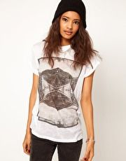 ASOS T-Shirt with Burnout Photographic Mountain