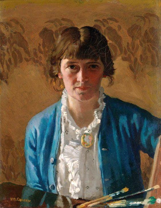 Self-portrait (1914) by Irish portrait painter Margaret Clarke