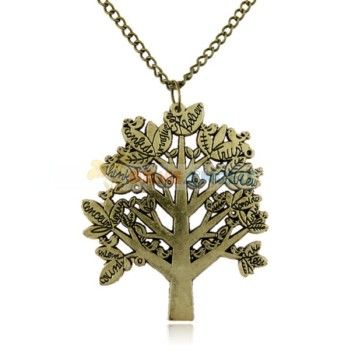 Stylish Tree Shaped Letter Style Necklace/ Long Sweater Chain for Girl Lady Woman - WorldWide Free Shipping