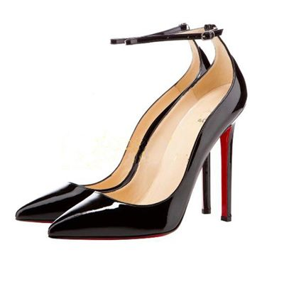 Fashion Pointed Closed Toe Stiletto High Heels Black Patent ...