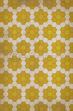 Pattern 2 The Bees Knees Vintage Vinyl Floor Cloths By