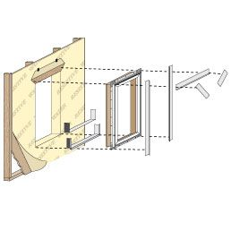 New Construction Window Frame Type Pella Cabin How To