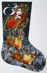 Image result for needlepoint christmas stocking patterns reindeer