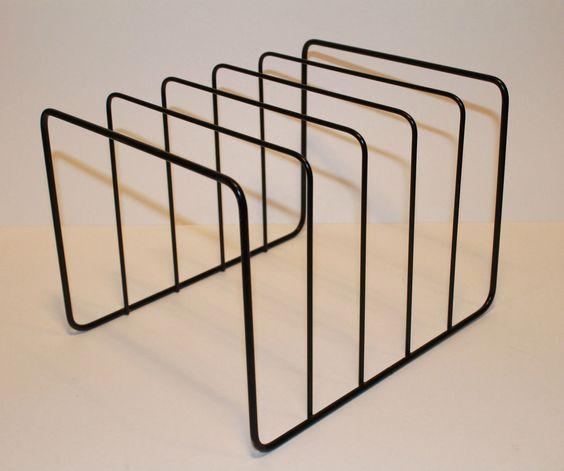 Vintage Vinyl Record Metal Wire Storage Rack Stand Unit Crate Holds Racks