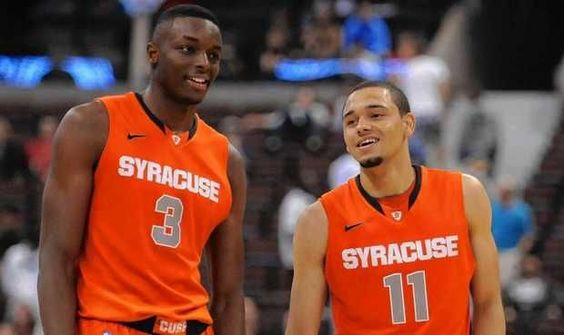 Jerami Grant And Tyler Ennis Syracuse Basketball Syracuse Orange College Basketball