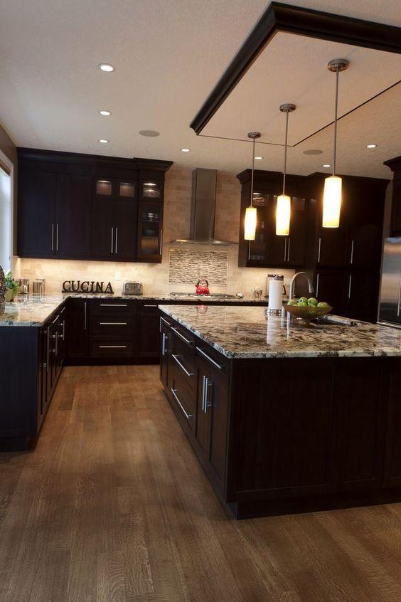 ديكور تصميم هندسةديكور تصميم داخلي مطبخ عصري موديل موديلات ستايل رخام خشب المنيوم غرفةطعام اضاءة Kitchen Renovation Kitchen Layout Kitchen Style