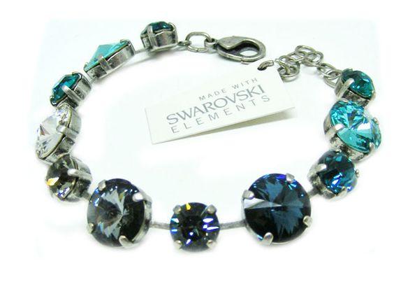 Swarovski Elements Armband Glamour Blau Günstig