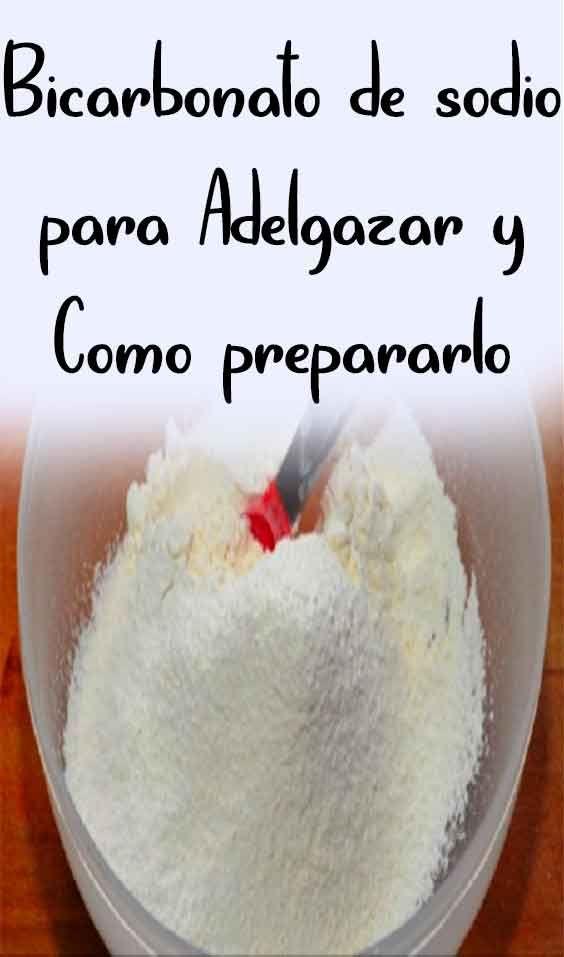 consejos para adelgazar con bicarbonato de sodio