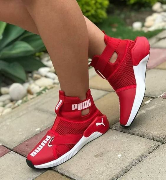35 Red Shoes That Will Make You Look Cool | Sneakers, Pumas
