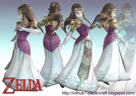 ... model of Zelda as she appears in Brawl from enrique3 at DeviantArt. You can see the papercraft below as well as by clicking the link provided above.