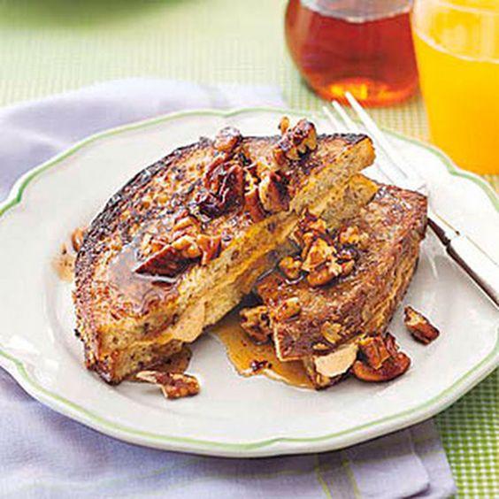 Pumpkin-Stuffed French Toast