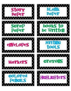 writing center labels.