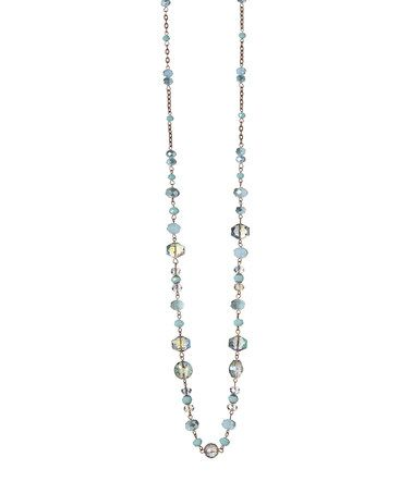Look at this #zulilyfind! Blue Crystal Necklace #zulilyfinds
