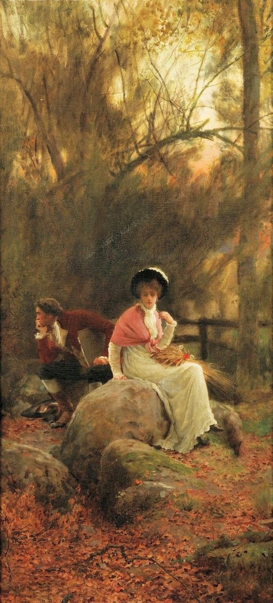 Marcus Stone (1840-1921) - A lovers spat, 1884