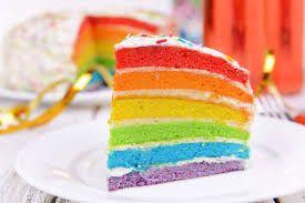 ハワイの虹ケーキ