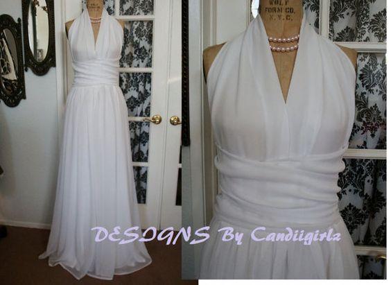 1950s custom White Marilyn Wrap Waist by DESIGNSByCandiigirlz, $350.00