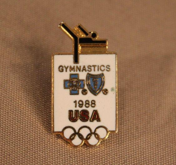 Vintage 1988 Usa Olympics Gymnastics Pin White And Gold Badge Etsy In 2020 Olympic Gymnastics Usa Olympics Olympics Activities