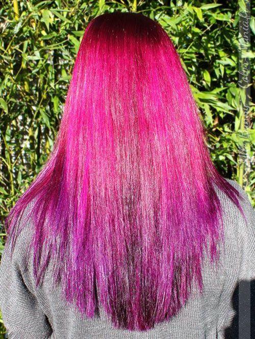 coloration cheveux rose cerise directions color mania - Dcoloration Cheveux Colors