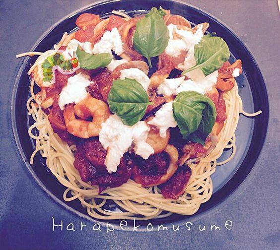 はらぺこ娘先生食べっぷり評価★★☆  少し大人の味でしたかね。 - 38件のもぐもぐ - pasta  -海の幸のトマトソース- by harapekomusume