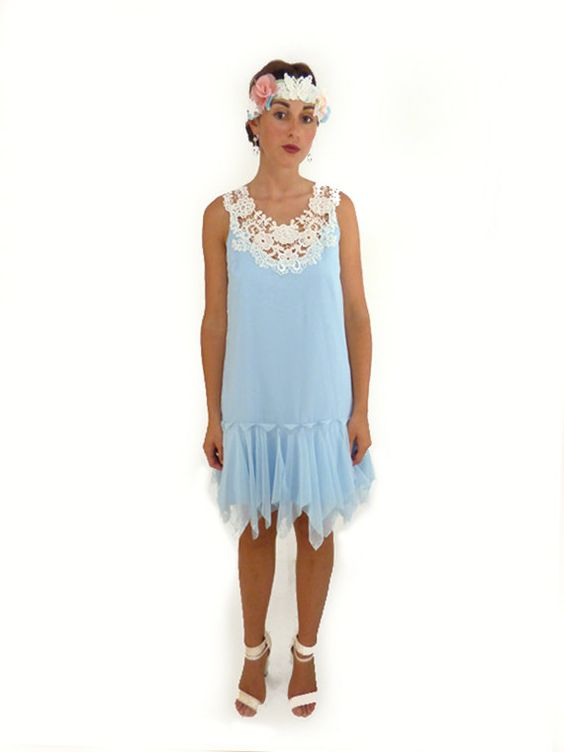 Party Dress Flapper Woman Clothing Holiday Fashion by FoldedRoses