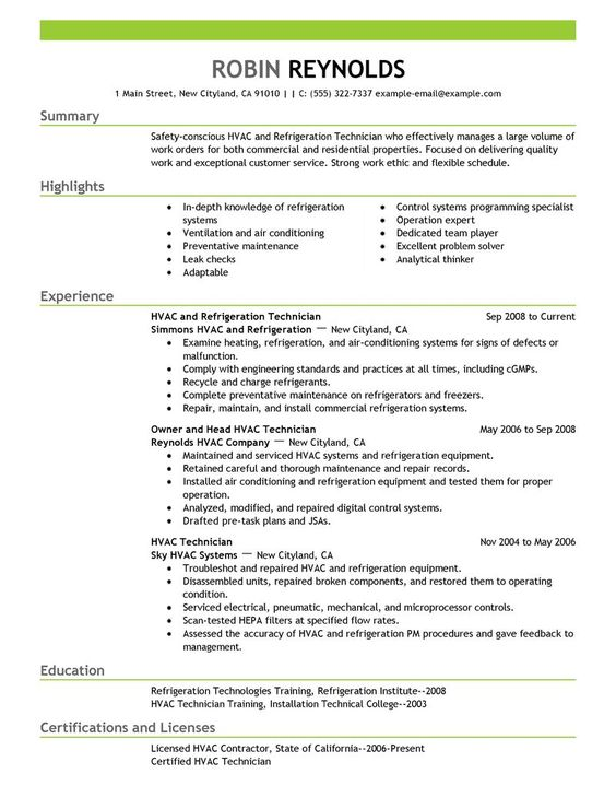 TCAT - D Tech Foundations (durham0078) on Pinterest - hvac technician sample resume