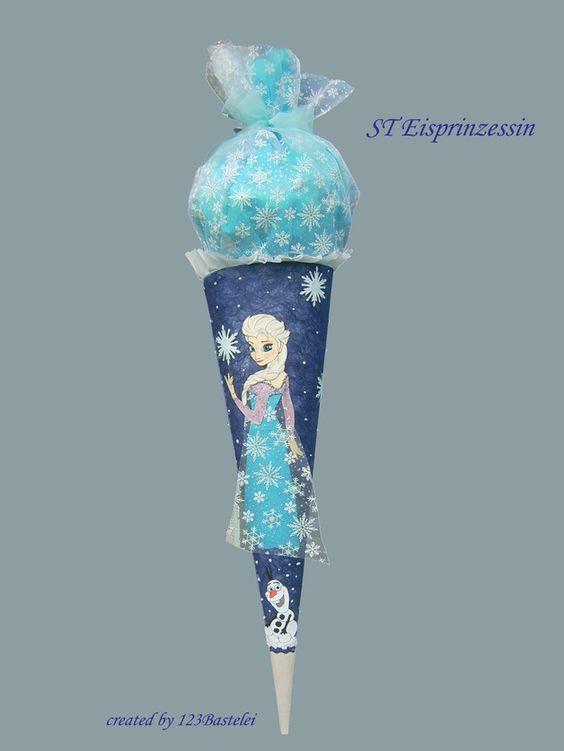 Schultüten - Schultüte Eisprinzessin oder nach Wunsch - ein Designerstück von 123Bastelei bei DaWanda