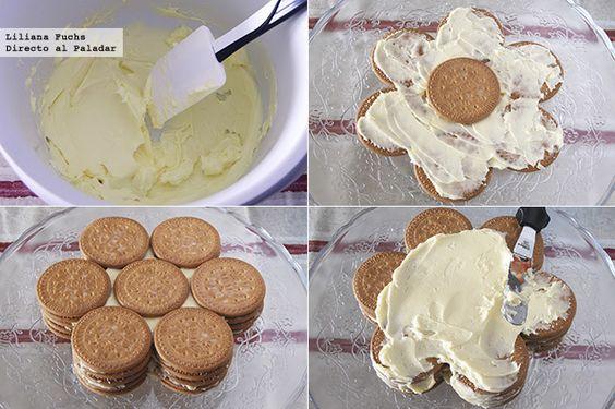 Directo al Paladar - Tarta de galletas María. Receta fácil sin horno