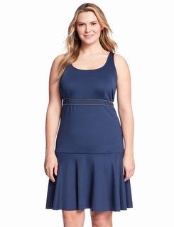 Exposed Zip Stretch Dress