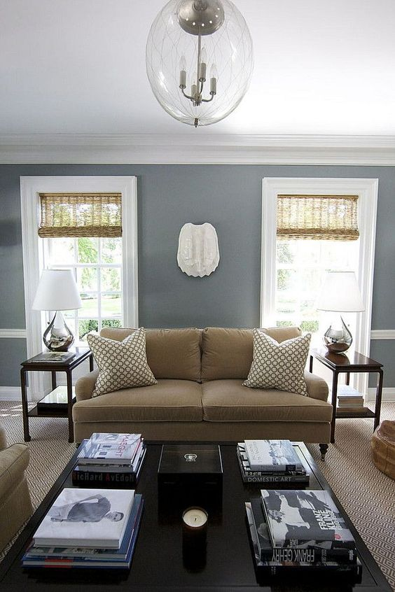 Best Living Room Inspiration Grey Walls Walnut Coffee Table 400 x 300
