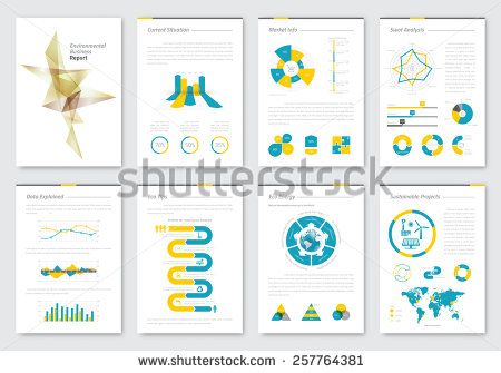 Vector brochure design template. Infographics elements for ...