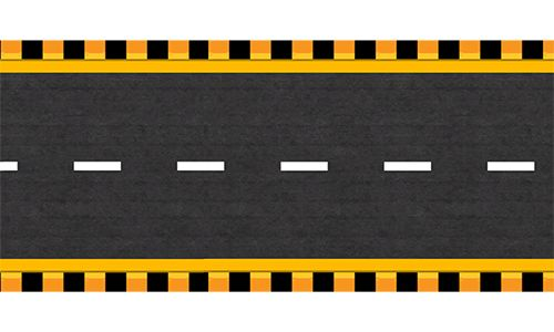 Top View Highway Straight Dark Road Flat Design Icons Road Texture Flag Icon