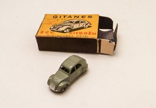 Voiture Miniature Gitanes Ancienne Citroen 2cv Tin Toys Toy Boxes Miniatures
