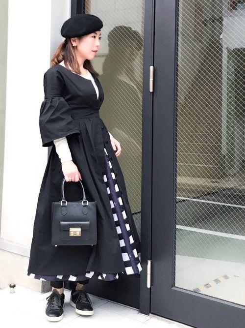 aco bijouterie euro flat double standard clothingのワンピースを使ったコーディネート wear ファッション ファッションコーディネート フレアスカート