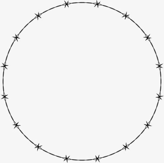 Barbed Wire Circle Round Png Barbed Clipart Circle Clipart Fence Fence Material Loop Barbed Wire Barbed Wire Tattoos Circle Frames