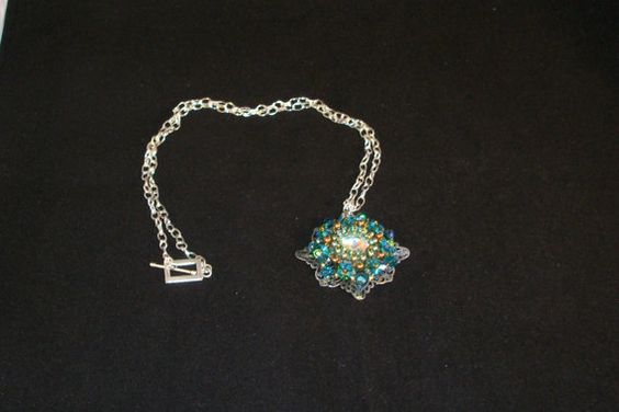 PRICE REDUCTIONSwarovski crystal and pearl by Violetspassions, $61.00