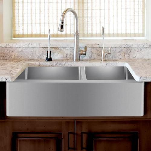 36 Argo Stainless Steel 60 40 Offset Double Bowl Farmhouse Sink Farmhouse Sink Stainless Steel Farmhouse Sink Sink