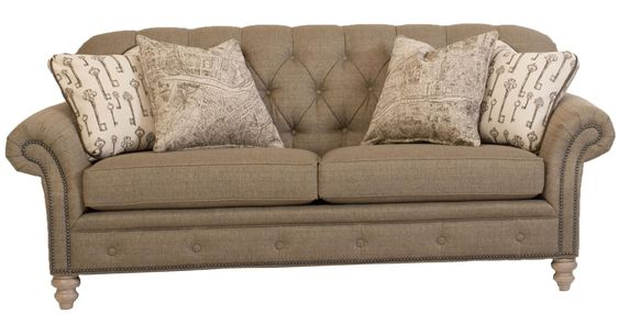 396 Traditional Button Tufted Sofa With Nailhead Trim By Peter Lorentz Darvin Furniture Sofa
