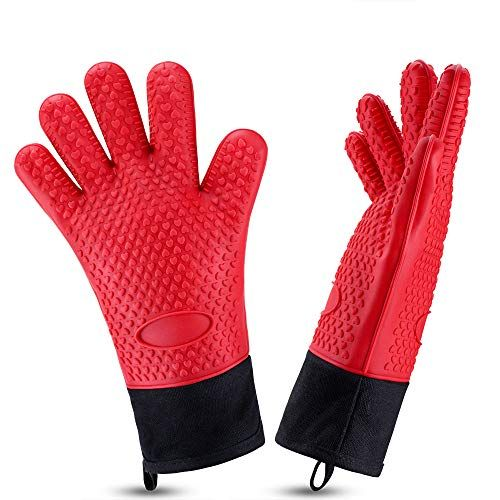 Oven Gloves Heat Resistant Cooking Gloves Silicone Grilling
