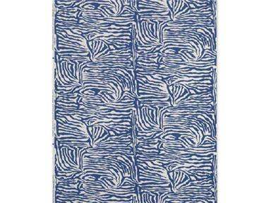 "Brunschwig & Fils - ""Ashanti"" linen and cotton print in Blueberry"
