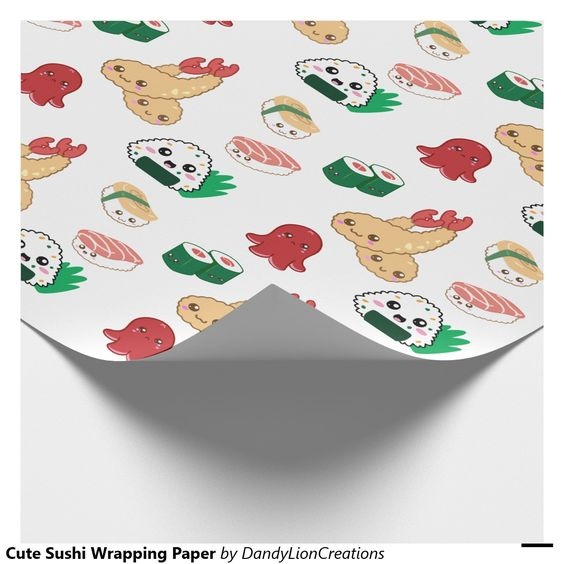 Cute Sushi Wrapping Paper