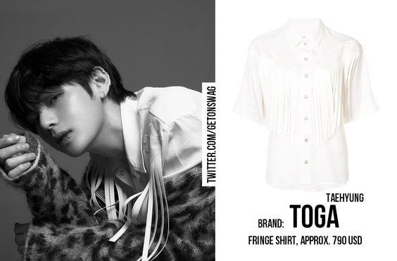 TAEHYUNG #BTS 180509 #BTS #방탄소년단 #LOVE_YOURSELF 轉 'Tear' Concept Photo O version #TAEHYUNG #태형 #V   TOGA fringe white shirtpic.twitter.com/yVtFbUxPWl