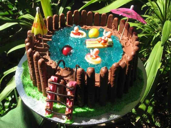 Pool Cake Swimming Pool Cakes And Swimming Pools On Pinterest